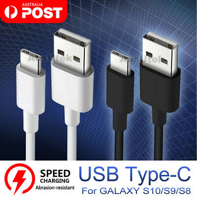 AU4.99 • Buy 2x FAST Type-C USB-C Charger Cable For Samsung S21 S20 Ultra S10 S9 Plus HUAWEI