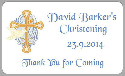 £2.50 • Buy Christening Dove Thank You Stickers Personalised Boy Girl Party Bag Gift Labels