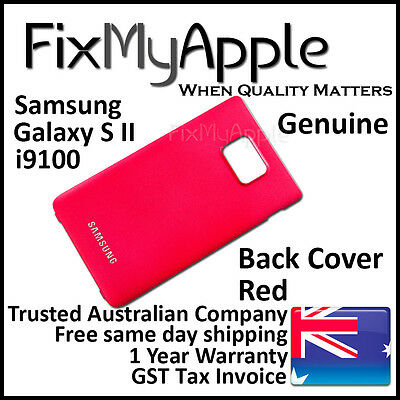 AU6.95 • Buy Samsung Galaxy S II S2 I9100 Red Back Rear Cover Battery Housing Door Case New