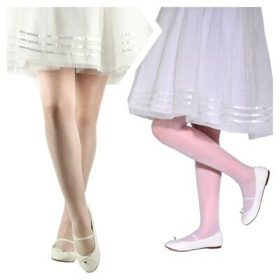 £2.85 • Buy Girls Kids Sheer Semi-matt Tights Party Special Occasion Everyday