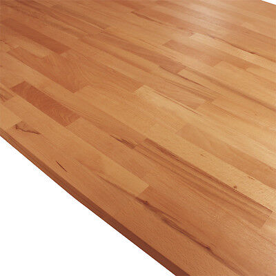 Solid Beech Kitchen Wood Worktops 2M 3M 4M & Breakfast Bars Solid Wooden Worktop • 20£