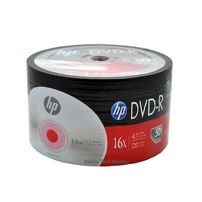 £15.79 • Buy 100-Pack 16X HP Logo Blank DVD-R DVDR Recordable Disc Media 4.7GB Shrink Wrapped