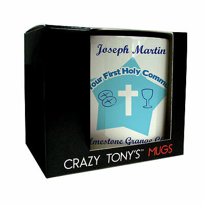Boys First Holy Communion Mug Personalised Sons Nephews His 1st Communion Gift • 11.94£