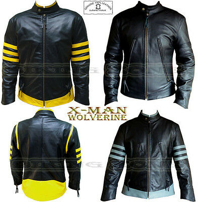 X-men Wolverine Style Mens Fashion High Quality Analene Leather Jacket • 99.99£