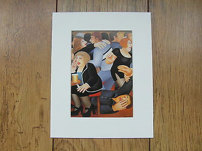 £5.50 • Buy Beryl Cook  Friday Night  Mounted Card 10 X 8 Funny