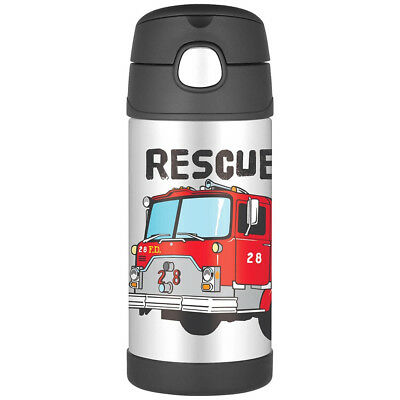 AU24.95 • Buy THERMOS Funtainer S/S Straw 355ml Vacuum Insulated Beverage Bottle Fire Truck!