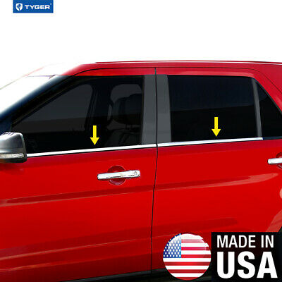 $73 • Buy TYGER For 97-03 Ford F150 Super Crew Cab 4PC Stainless Steel Window Sill Overlay