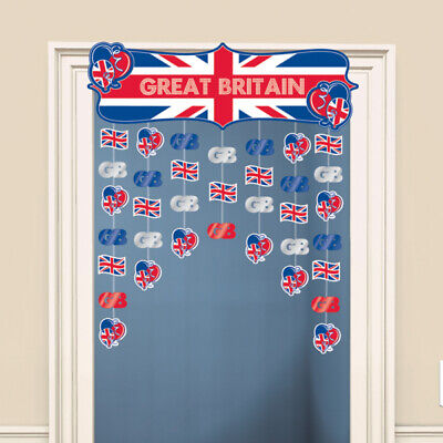 Great Britain Union Jack Icons Door Curtain • 3.99£