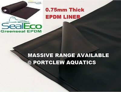 GREENSEAL 0.75mm EPDM POND LINER FISH POND HEAVY DUTY- DROP MENU WITH SIZES  • 257.99£