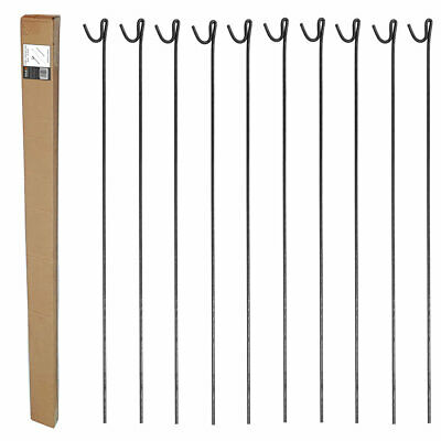 METAL STEEL BARRIER FENCING FENCE PINS STAKES POSTS ROAD PINS 1.25m Pack Of 10 • 16.99£