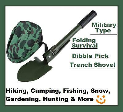 $11.50 • Buy Military Type Folding Survival Dibble Pick Trench Shovel Camping Hiking New