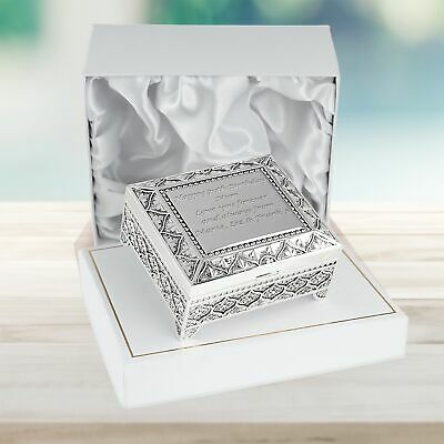 £24.99 • Buy Girl's 70th Birthday Gift Engraved Seventieth Silver Plated Trinket Box 70 Gifts