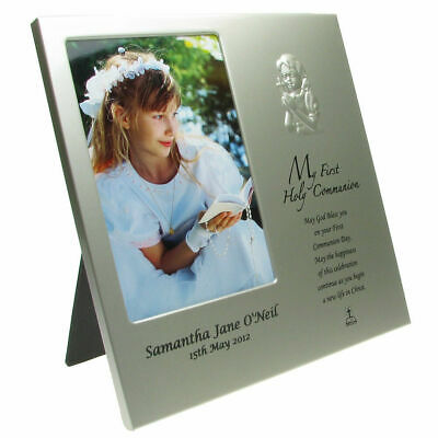 First Holy Communion Gift, Engraved Girl's Holy Communion Photo Frame • 22.50£