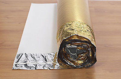 15 30 45 60 75 M2 GOLD & SILVER UNDERLAY FOR WOOD / LAMINATE FLOORING NOVOSTRAT • 23.67£