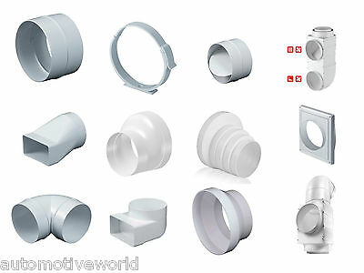 Round Ducting Accessories Duct Connector Adaptor Pipe Hydroponics Ventilation   • 3.99£