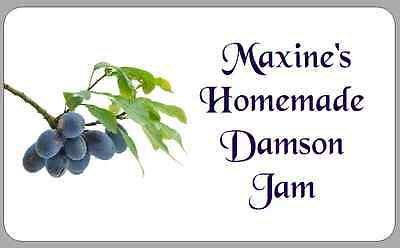 Damson Jam Pot Jar Stickers Personalised Self-Adhesive Labels For Preserves • 2.50£