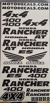 Honda 400 Rancher AT 4x4 04-07 Green Only Decal Stickers Emblem Kit 7-pieces