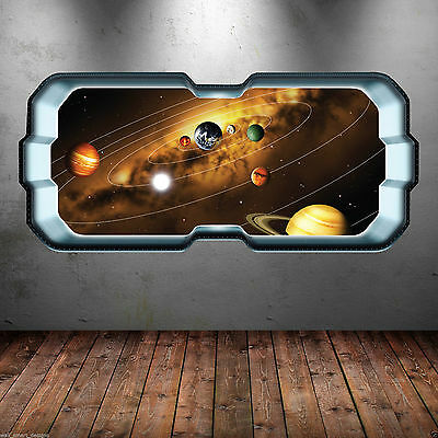 Spaceship Window Planet Wall Sticker Decal Art Transfer Bedroom Decor WSD272 • 17.99£