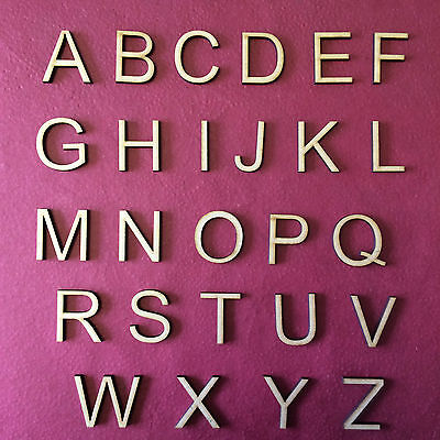 £5.40 • Buy WOODEN LETTERS & NUMBERS FONT SIZES 2-3-4-5-6-7-8 AND 10cm MDF Wedding Gift AR