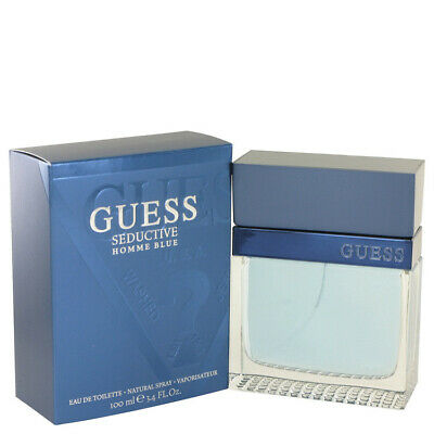 Guess Seductive Homme Blue By Guess 3.4 Oz EDT Cologne Spray For Men New In Box • 21.18£