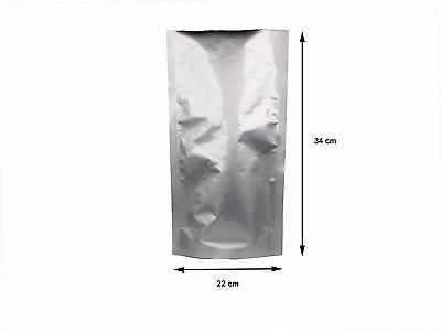 AU23.63 • Buy Plastic Aluminium Bags Pouches X10 FOL Heat Seal Bag 100um Medium Bx2 Box