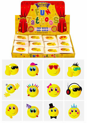 £2.09 • Buy 72 Smiley Temporary Tattoos (6 Bags Of 12) - Pinata Loot/Party Bag Fillers Kids