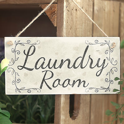 Laundry Room - Handmade Rustic Country Wooden Hanging Door Or Wall Sign / Plaque • 6.99£