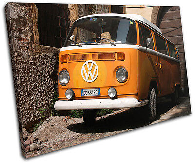 £19.99 • Buy Camper Van Transportation SINGLE CANVAS WALL ART Picture Print VA