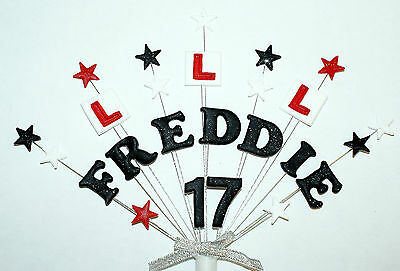 £10.50 • Buy Any Name And Age Learner Driver Or Passed Test Birthday/celebration Cake Topper
