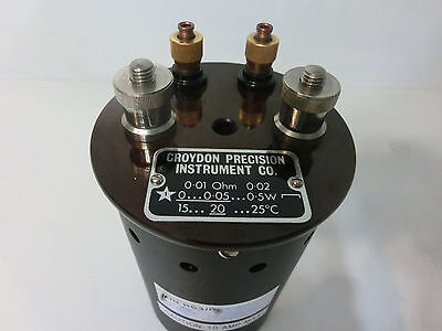 $345 • Buy Lowered Price, Croydon Precision Inst 0.01 Ohm, 10 Milli-ohm Resistor Standard