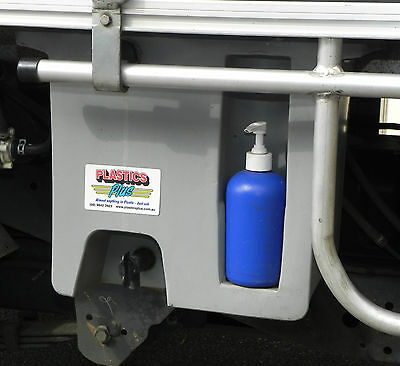 AU149 • Buy Vehicle Water Tank With Soap Dispenser (23L) Under Tray Ute Tank GREY