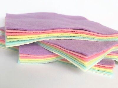 Wool Blend Felt X7 Sheets - 6 , 9  Or 12  Squares Or 9  X 4.5  - Soft Craft Felt • 3.25£