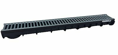 £32.99 • Buy NEW!!! PACK 3 HEAVY DUTY PLASTIC DRAINAGE CHANNEL WITH Metal GRATING MADE IN UK