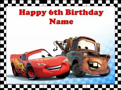 Lightning McQueen Edible Icing Image Birthday Cake Topper Party Decoration  • 7.91£