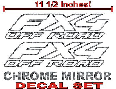 $11.99 • Buy 4x4 Fx4 Truck Bed Decals, CHROME (Set) For Ford F-150 And Super Duty