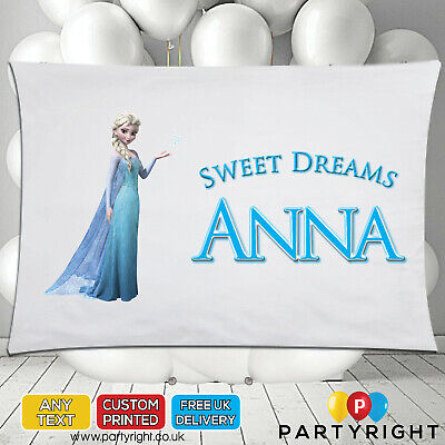 Personalised Elsa Frozen 2 Kids Pillowcase Pillow Case • Any Name • Great Gift • 8.99£