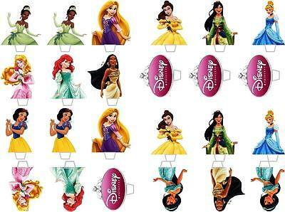 £1.89 • Buy 24 Disney Princess Top Half Stand Up Edible Rice Wafer Paper Cupcake Toppers