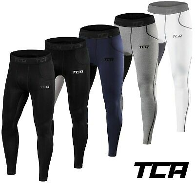 Mens Boys TCA Thermal Compression Tights Base Layer Warm Running Gym Trousers • 14.99£