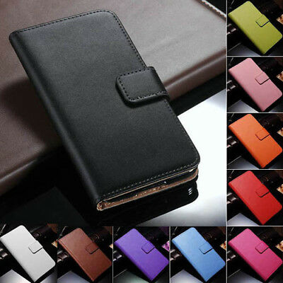 AU8.99 • Buy IPhone 11 Pro Max 8 7 6s Plus Case For Apple -Genuine Leather Wallet Flip Cover