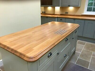SOLID BEECH WOOD WORKTOP / 30-40mm STAVES / 1m, 2m, 3m Oiled Or Untreated • 75£