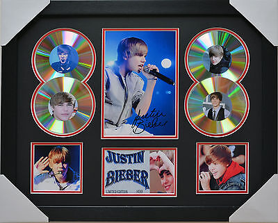 AU99 • Buy  Justin Bieber Signed Memorabilia Framed 4 Cd Limited Edition