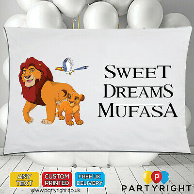 Personalised Lion King Simba Kids Pillowcase Pillow Case • Any Name • Great Gift • 8.99£