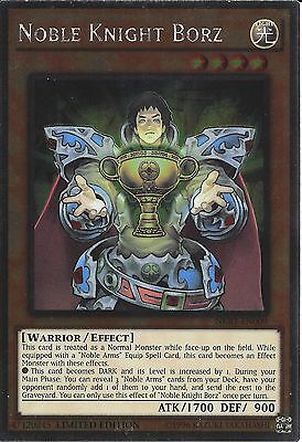 Yu-gi-oh: Platinum Rare - Noble Knight Borz - Nkrt-en009 - Limited Edition • 0.99£