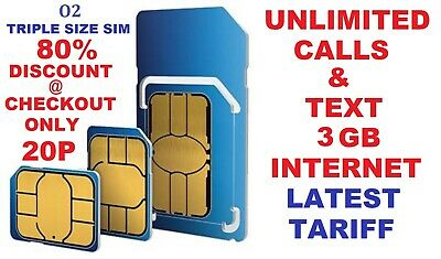 £0.99 • Buy O2 02 PAY AS YOU GO MICRO & STANDARD SIM CARD FOR IPHONE 4G 4s 5 5S 6 6S 7 7S 9