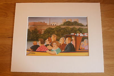 £4.85 • Buy Beryl Cook  Ferry Boat  Mounted Card 10 X 8 Funny