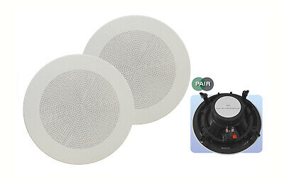 £30.99 • Buy E-audio 8  180W Home Shop Round Ceiling Speaker With Offset Tweeters PAIR #402C
