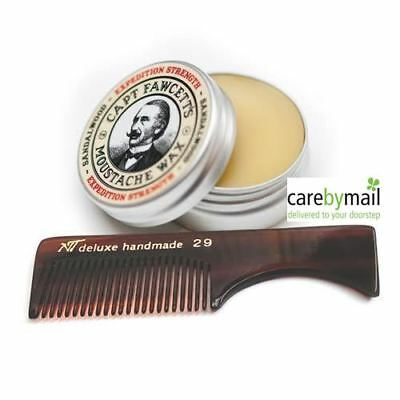 Captain Fawcett's Expedition Strength Firm Hold Moustache Wax 15ml + FREE COMB • 11.99£