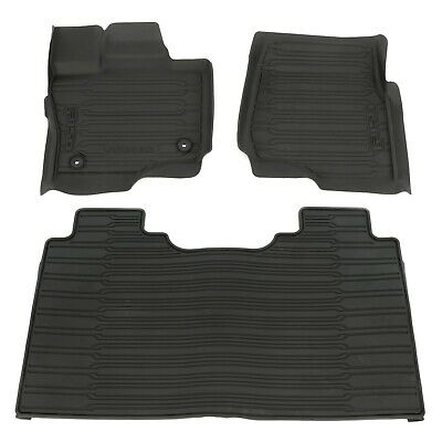 2015-2018 Ford F-150 Super Crew Cab All Weather Rubber Floor Mats Black OEM NEW • 157.68$