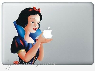 $9.99 • Buy Snow White Decal Sticker Skin Stickers For Macbook Pro Air 13 15 17 '' Inch SWL