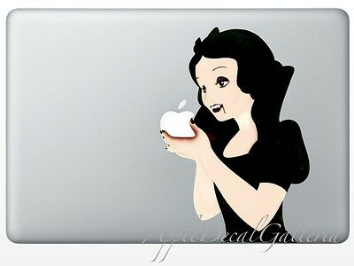 $9.99 • Buy Snow White Decal Sticker Skin Stickers For Macbook Pro Air 13 15 17 '' Inch SWEV